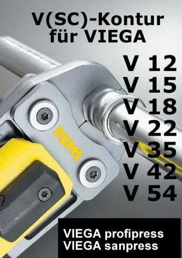 REMS Pressbacke (Presszange) V 12-54 (Viega Profipress )